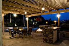 Outdoor Awning and Barbeque Lighting