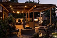 Outdoor awning lighting