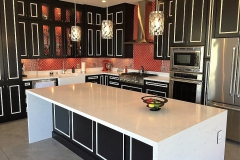 Renovated kitchen with LED lighting